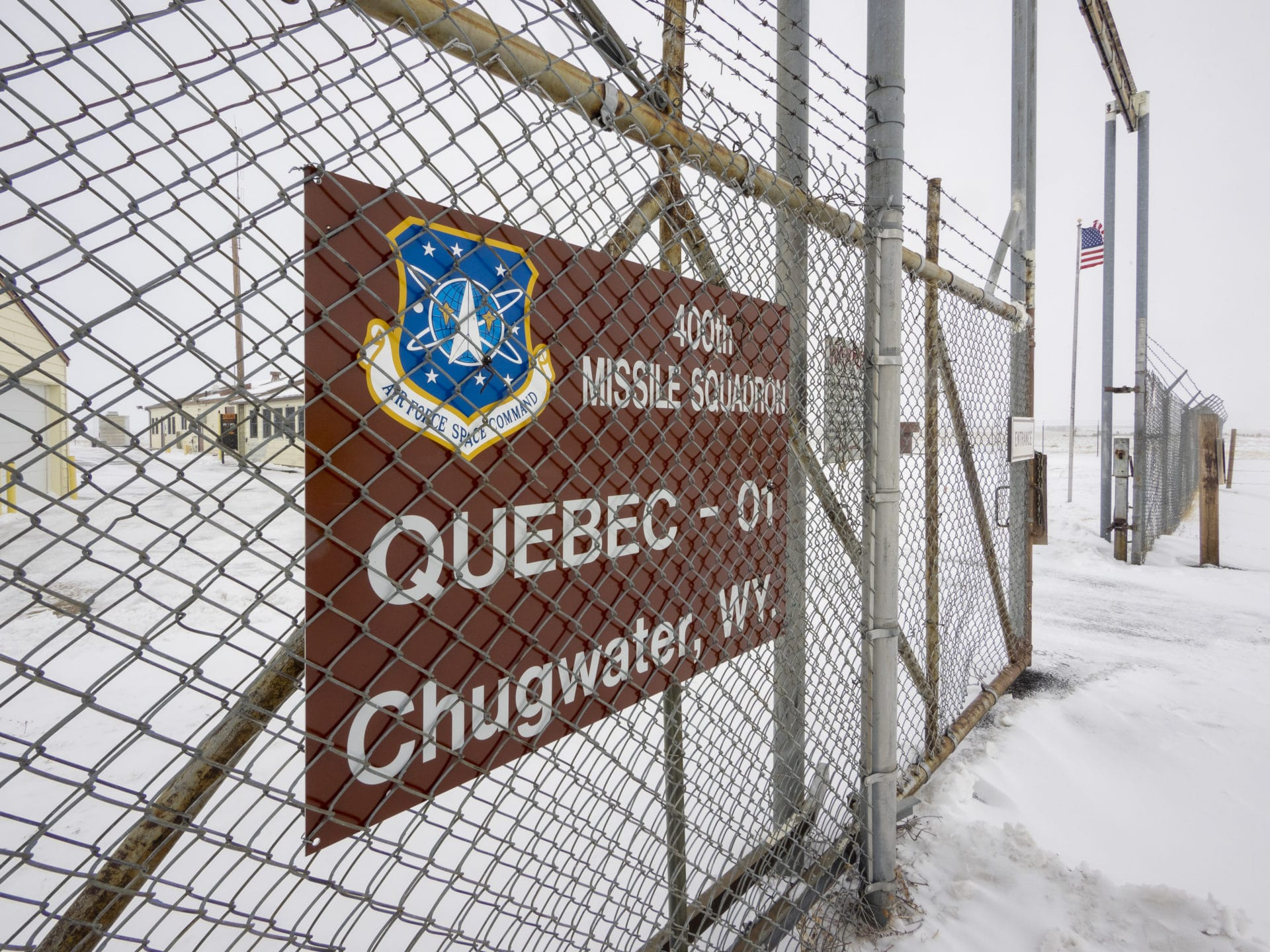 Welcome Sign at Quebec 01 Peacekeeper Site in Wyoming