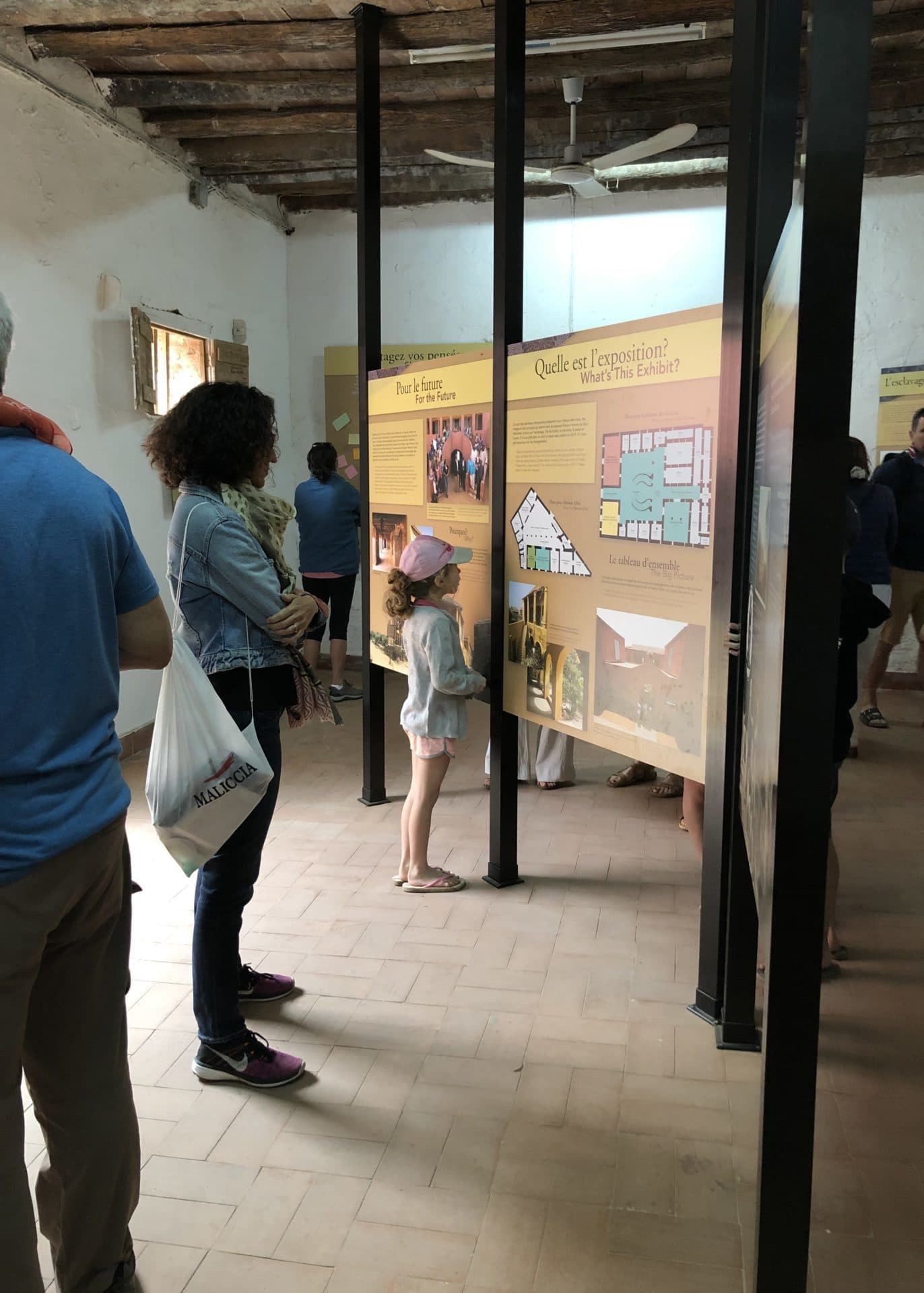 Temporary Exhibit at the House of Slaves in Goree, Senegal