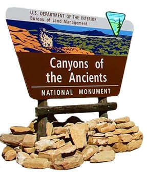 Canyons of the Ancients Sign